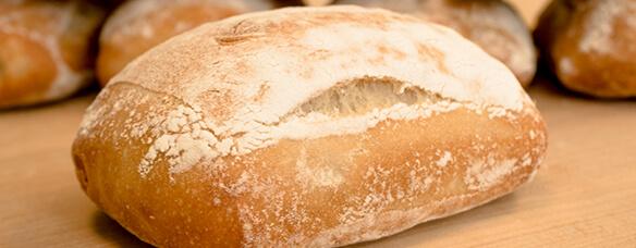 Ciabatta slipper bread looks like a ballet slipper
