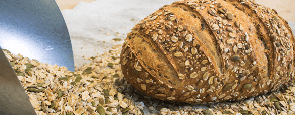 Multigrain large cuts flecked with heavy cover of many grain types